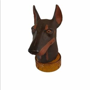 Gorgeous HEAD OF A DOBERMAN PINSCHER CANDLE.